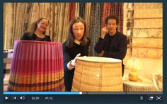Lulu Lytle from Soane takes a closer look at Juliet's lampshade - bespoke lampshades made for Monty Don's Real Craft.