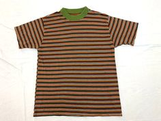 Purple Stripe Vintage Women/'s Short Sleeve Poly Cotton Grants Shirt NOS In Package 70s Deadstock Blouse M 36 Medium