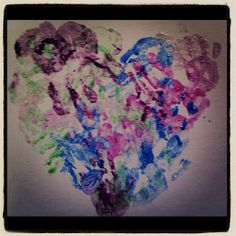 a heart of our handprints - the fellowship and love of our messy church service