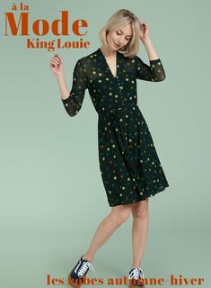 9d9a833dfcd067 Robe Emmy FETTINI - Coloris vert Sycamore King Louie