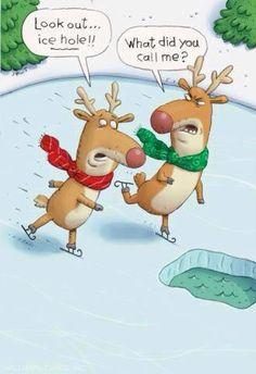 #reindeer #icehole #funny #iceskating #xmas
