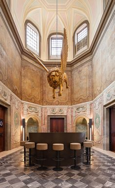 Originally built as a nobleman's residence in the late 18th century, in recent years, the grand confines of Palácio Chiado was home to the Institute of Visual Arts, Design and Marketing before spending a period of time in abandoned disrepair. Its la...