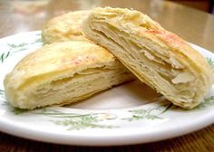 Taiwanese Sun Cakes (太陽餅). Sweet filling wrapped in layers of flaky pastry dough.
