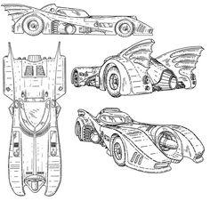 batmobile blueprint | Rob's Room: Batmobile Blueprints & Schematics (mostly)