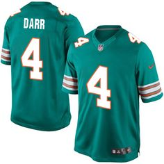 Nike Limited Matt Darr Aqua Green Men's Jersey - Miami Dolphins #4 NFL Alternate