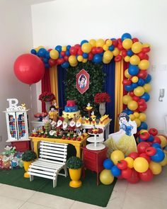 Branca De Neve branca de neve piercing kits near me - Piercing Snow White Birthday, Baby Birthday, First Birthday Parties, First Birthdays, Balloon Decorations, Birthday Party Decorations, Beauty And The Beast Party, Disney Princess Birthday, Party Time