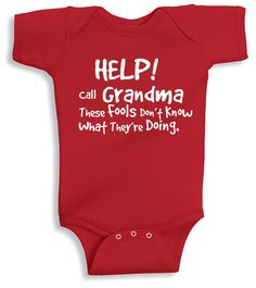 Lil Shirts Help Call Grandma Baby Bodysuit