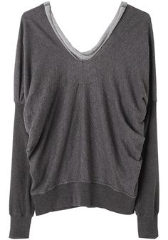 Draped Pullover Sweatshirt by Zucca <3