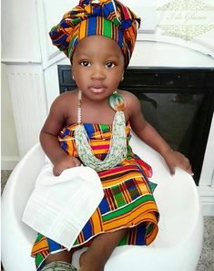 African dress styles for cute african attire for babies African Babies, African Children, African Women, African Attire, African Wear, African Dress, African Print Fashion, African Fashion Dresses, Ankara Fashion
