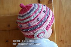 Knit Baby Girl Hat - High Quality Natural Product - Size 6 Month - Half Silk/Half Wool from tomsgrossmami on Etsy. Saved to Baby Clothes. Baby Girl Hats, Girl With Hat, Girl Beanie, Beanie Hats, Baby Hut, Knit Crochet, Crochet Hats, Hat Shop, Baby Design