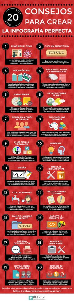 20 consejos para crear la infografía perfecta #infografia #socialmedia