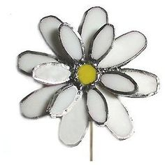 White Daisy Glass Wild Flower, Free Stained Glass Patterns ...