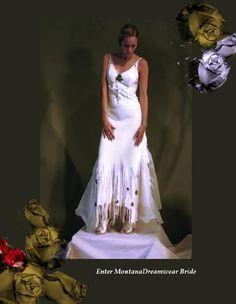 rustic buckskin wedding dress