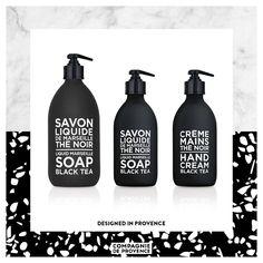 #compagniedeprovence #blackandwhite #design #savonliquide #intemporel