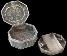 Silver Filigree Box, Indo-Portuguese Goa