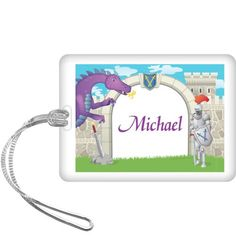 Knight Personalized Bag Tag