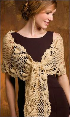 Crochet Wrap.  This would also make a pretty table runner,