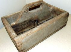 Old Wooden Antique Tool tote with handle  by honeyblossomstudio, $22.50