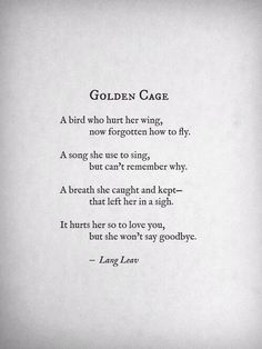 But she won't say goodbye.