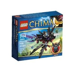 """LEGO Chima Razcal Glider 70000 by LEGO Chima. $11.65. Fold the wings for different flying modes!. Grab with the claws!. Includes Razcal minifigure.. Features CHI, folding wings, grabbing legs and a chain with handle.. Measures over 2"""" (6cm) high, 10"""" (26cm) long and 7"""" (18cm) wide.. From the Manufacturer                Soar high above the mystical world of Chima in Razcal's Glider to help Razcal guard the CHI. Fend off other tribes with the Raven Glider's beak and grabbing ..."""