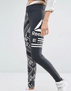 Leggings con estampado estilo pañuelo de Reebok