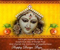 Dgreetings    May Goddess Durga bring happiness to you...
