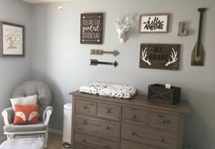 Woodland gallery wall - Baby Nursery Boy , You are in the right place about boy nurseries closet Here we offer you the most beautif Boy Nursery Themes, Nursery Room, Nursery Ideas, Room Ideas, Baby Boy Rooms, Baby Boy Nurseries, Woodland Nursery Boy, Woodland Bedroom, Woodland Theme