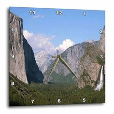 3dRose El Capitan and Bridalveil Falls in Yosemite National Park  Wall Clock 15 by 15Inch dpp_36441_3 *** Want to know more, click on the image.