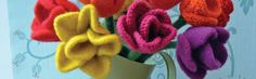 Knitted tulip pattern