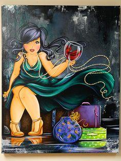Risultati immagini per isabelle desrochers peinture Black Women Art, Black Art, Renoir, Plus Size Art, Fat Art, Wine Art, Isabelle, Fat Women, Pictures To Draw