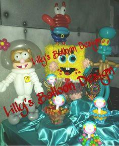 Sponge Bob, balloon table decorations