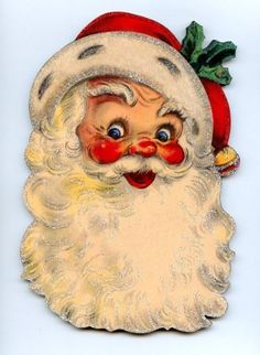 CHRISTMAS-SANTA-CLAUS-W-HOLLY-DECOR-WOOD-WALL-PLAQUE-VINTAGE-style-SIGN-2