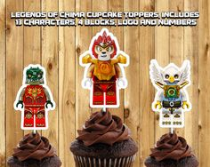 Printable Legends of Chima Cupcake Toppers by InstaBirthday