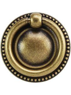 "Beaded Round Single-Post Pull - 1.97"" Diameter | House of Antique Hardware"