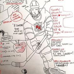 This is an NHL player explaining non-Hodgkin's lymphoma: | This Med Student Makes His Own Comics To Help Him Study