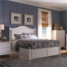 Broyhill Hayden Place Panel Storage Bed In White   4649 PanelStorageBed Bed  Frame With Storage