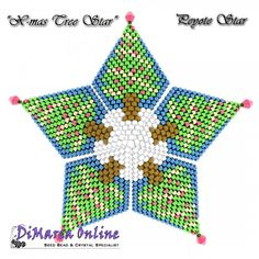 FREE TUTORIAL Christmas Tree 3D Peyote Star (download link per e-mail) - DiMarca Online