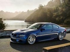 BMW E92 M3 blue deep dish