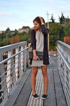 Ann Taylor Shirtdress with slip-ons | Fishbowl Fashion