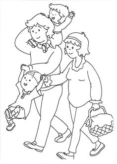 Family Coloring Pages, Coloring Book Pages, Printable Coloring Pages, Coloring Sheets, Coloring Pages For Kids, Family Theme, Caillou, Online Coloring, Art Plastique
