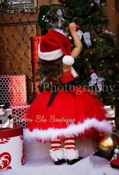 Breathtaking Santa Claus Claus Santa costume and rhinestone belt. Santa Hat Seperate Nice for Costumes, Santa Claus Santa Tutu costume and rhi. Toddler Christmas Pictures, Christmas Tutu, Family Christmas Pictures, Kids Christmas, Christmas Costumes, Christmas Decorations, Santa Dress, Santa Hat, Diy Girls Costumes