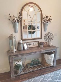 Rustic Living Rooms Ideas - A large white faux fur rug makes every rustic living room really feel co Warm Home Decor, French Home Decor, White Faux Fur Rug, Disney Home Decor, Home Living Room, Entryway Decor, Foyer, Farmhouse Decor, Country Decor
