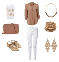 """""""Untitled #24"""" by vanessalvarado on Polyvore featuring Frame Denim, Chan Luu, Irene Neuwirth, The Limited, Michael Kors and Sonix"""