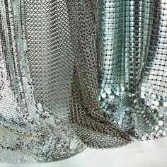 Metallic and chain mail. Spring trends.