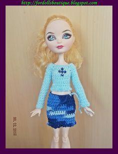 Jersey y falda para muñecas Monster & Ever After de mamimonster por DaWanda.com