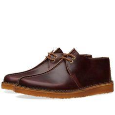 Clarks Originals x Horween Leather Co. Desert Trek (Wine Leather)