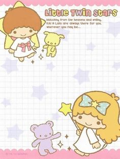 Sanrio Little Twin Stars Memo Little Twin Stars, Badtz Maru, Keroppi, Planner Doodles, Japanese Phrases, Cute Letters, Kawaii Stationery, Star Stickers, Letter Set