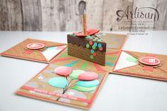 Stampin´ Up! - Artisan Design Team - besonderes Designerpapier Sommerglanz - Party Ballons - Thinlitsform Tortenstück - 1