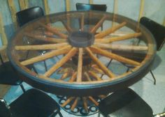 wagon wheel table | wagon wheel table and hubs | Flickr - Photo Sharing!
