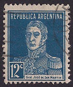 Estampilla Argentina, 1923 - General José de San Martín